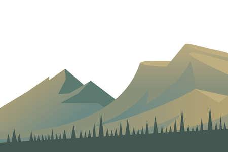 beautiful landscape scene with mountains vector illustration design
