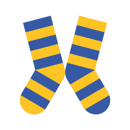 socks pair with colors stripes down symbol vector illustration design Vektorgrafik