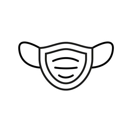 face mask accessory line style vector illustration design