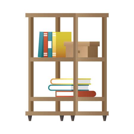 books case furniture house icon vector illustration design