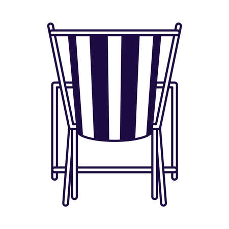 beach chair line style icon vector illustration design