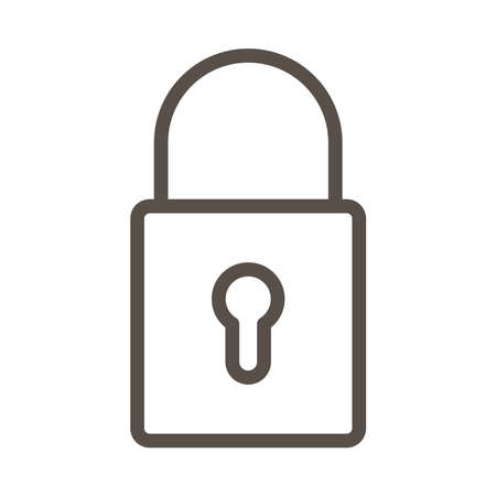 safe secure padlock line style icon vector illustration design