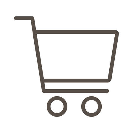 shopping cart commerce line style icon vector illustration design