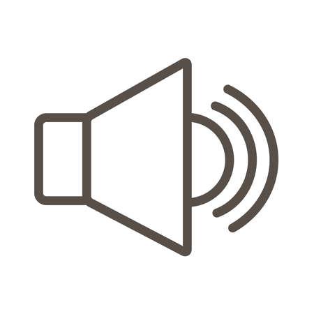 megaphone sound device line style icon vector illustration design Çizim