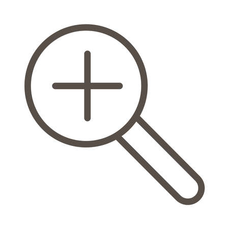 search magnifying glass line style icon vector illustration design