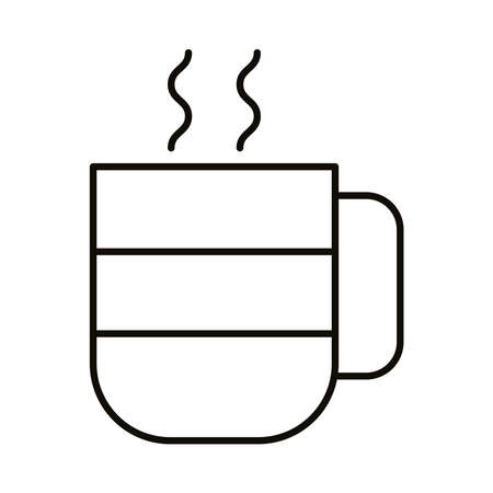 mug with hot beverage line style icon vector illustration design