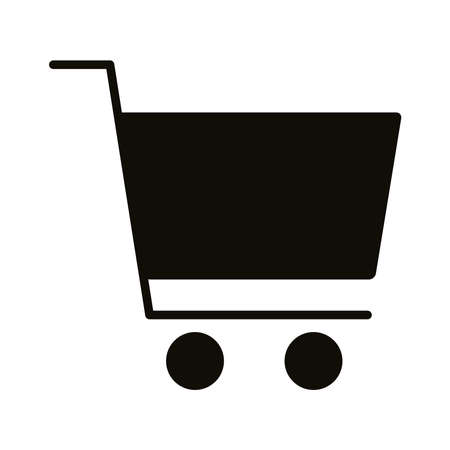 shopping cart commerce silhouette style icon vector illustration design 矢量图像