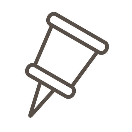 attach paper pin line style icon vector illustration design