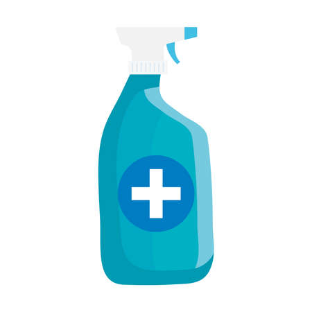 disinfectant spray bottle isolated icon vector illustration design