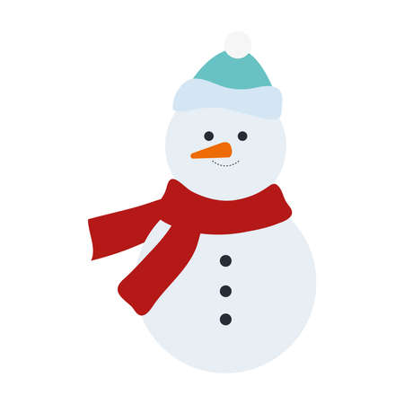 snowman christmas character isolated icon Çizim