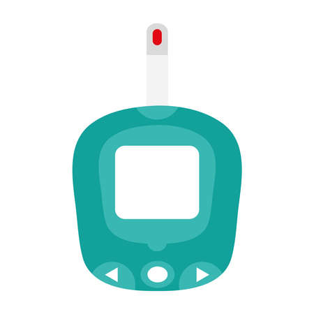 glucometer test device isolated icon vector illustration design