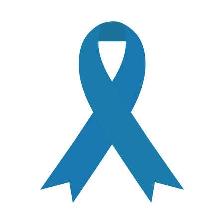 blue ribbon campaign symbol isolated icon vector illustration design Çizim