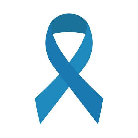 blue ribbon campaign isolated icon vector illustration design