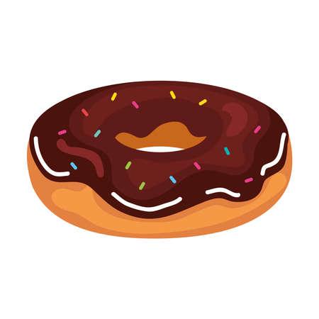 sweet donut icon design, food and dessert theme Vector illustration