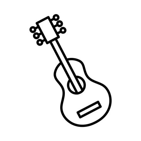 guitar musical instrument line style icon vector illustration design