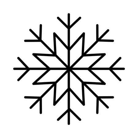 happy merry christmas snowflake line style icon vector illustration design
