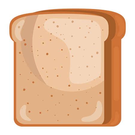 toast bread delicious pastry product icon vector illustration design