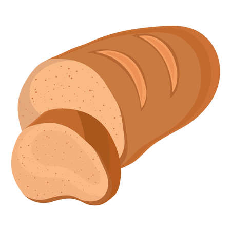 bread sliced delicious pastry product icon vector illustration design