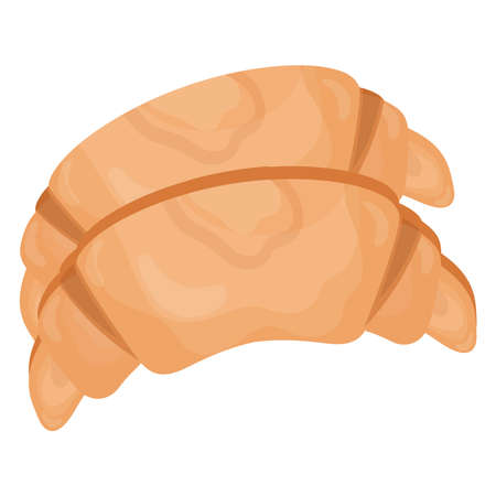 croissant bread delicious pastry product icon vector illustration design