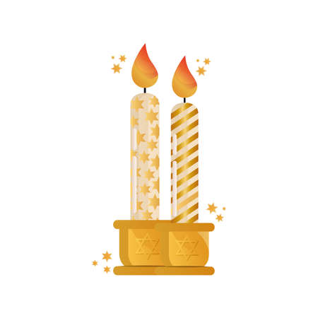 paraffin candles celebration isolated icon vector illustration design
