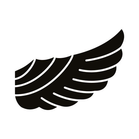 wing feathers bird style silhouette icon vector illustration design