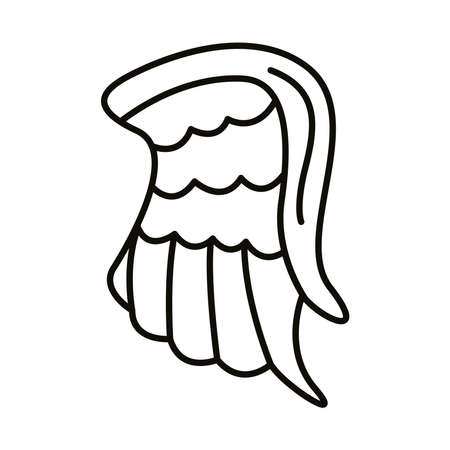 wing feathers angel line style vector illustration design