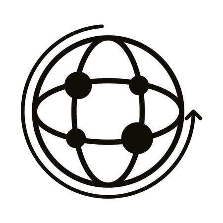 sphere browser block style icon vector illustration design