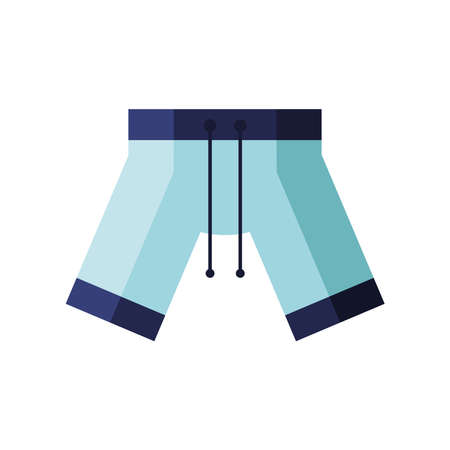 short male swimsuit flat style icon vector illustration design Иллюстрация