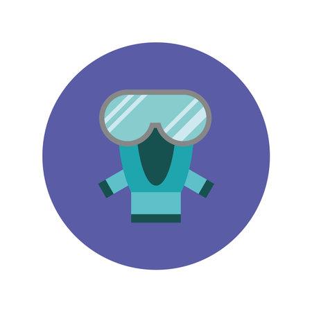 biozafety mask protection equipment icon vector illustration design