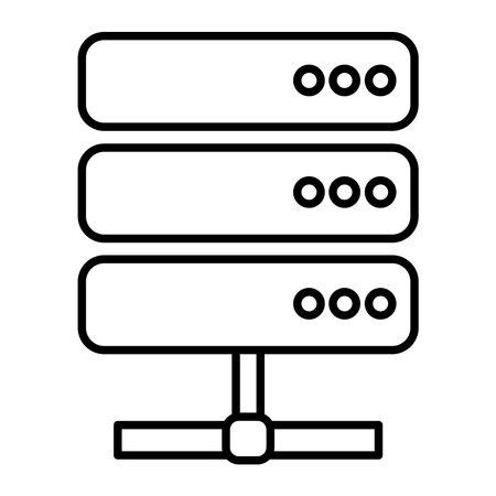 data center server line style icon vector illustration design 일러스트