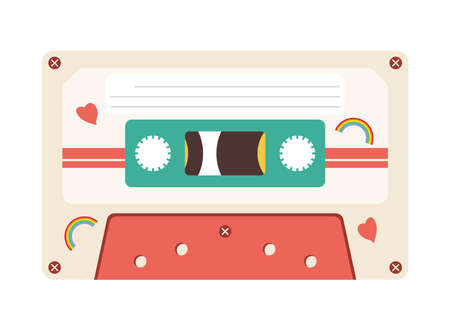 retro cassette design, Music vintage tape and audio theme Vector illustration Ilustrace