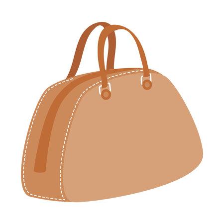 purse bag design, Baggage luggage tourism travel theme Vector illustration