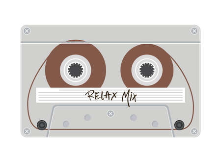 relax mix retro cassette design, Music vintage tape and audio theme Vector illustration