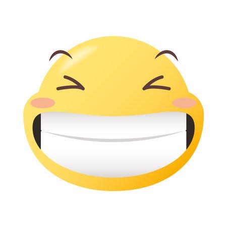 happy emoji face design, Emoticon cartoon expression and social media theme Vector illustration