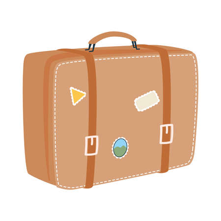 bag with stickers design, Baggage luggage tourism travel theme Vector illustration