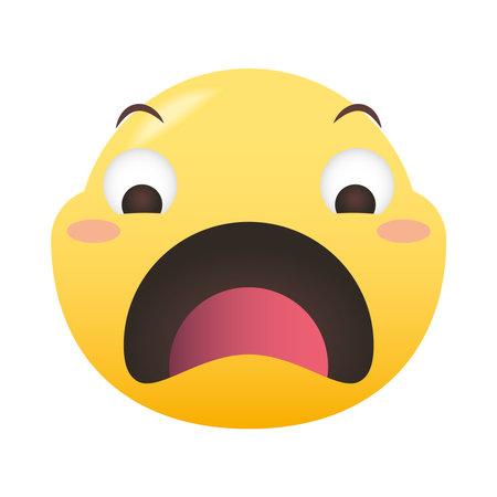 sad emoji face design, Emoticon cartoon expression and social media theme Vector illustration