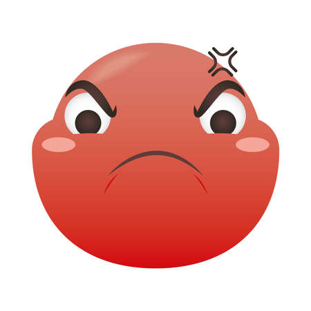 angry emoji face design, Emoticon cartoon expression and social media theme Vector illustration