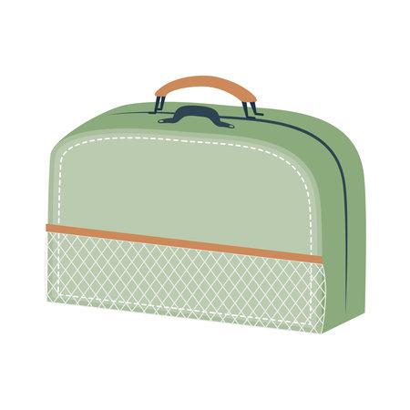 green bag design, Baggage luggage tourism travel theme Vector illustration