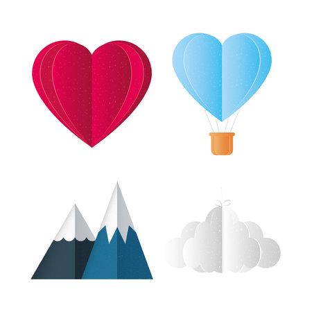 Love icon set design of Passion and romantic theme Vector illustration