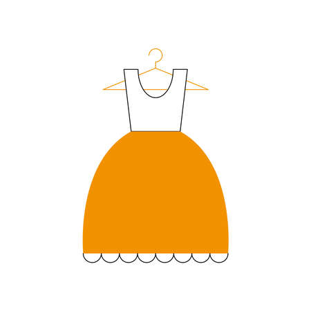 dress icon design, Cloth fashion style wear and store theme Vector illustration