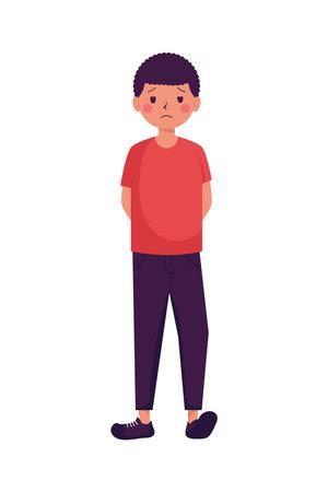 young man victim of bullying character vector illustration design Illustration