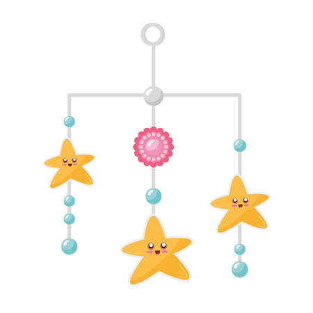 stars hanging in baby toy icon vector illustration design