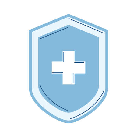 medical healthcare shield isolated icon