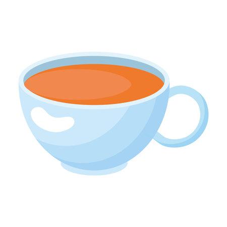 orange drink in porcelain cup Vetores