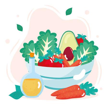 fresh vegetables bowl healthy icon