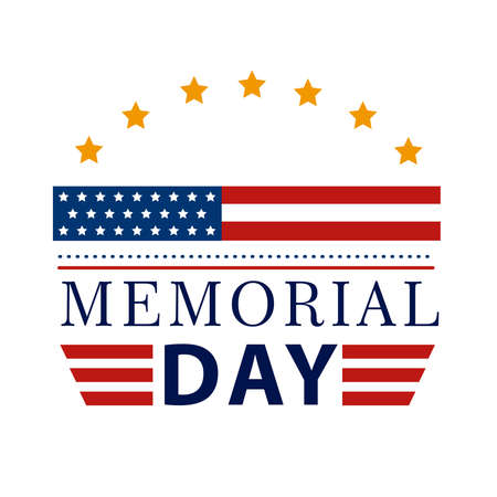 happy memorial day banner icon
