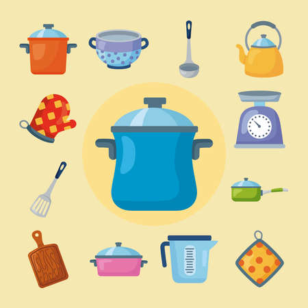 bundle of kitchen thirteen icons