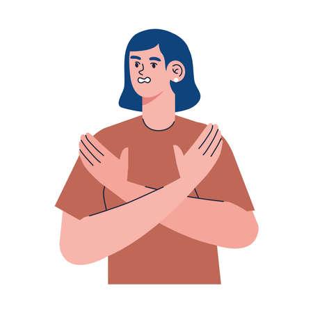 girl with panic atack character