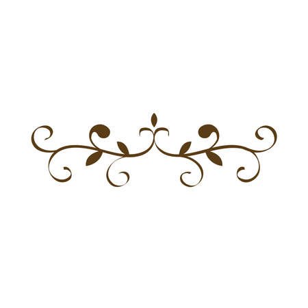 divider victorian decoration frame icon