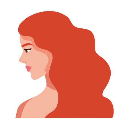 redhead woman shirtless avatar character